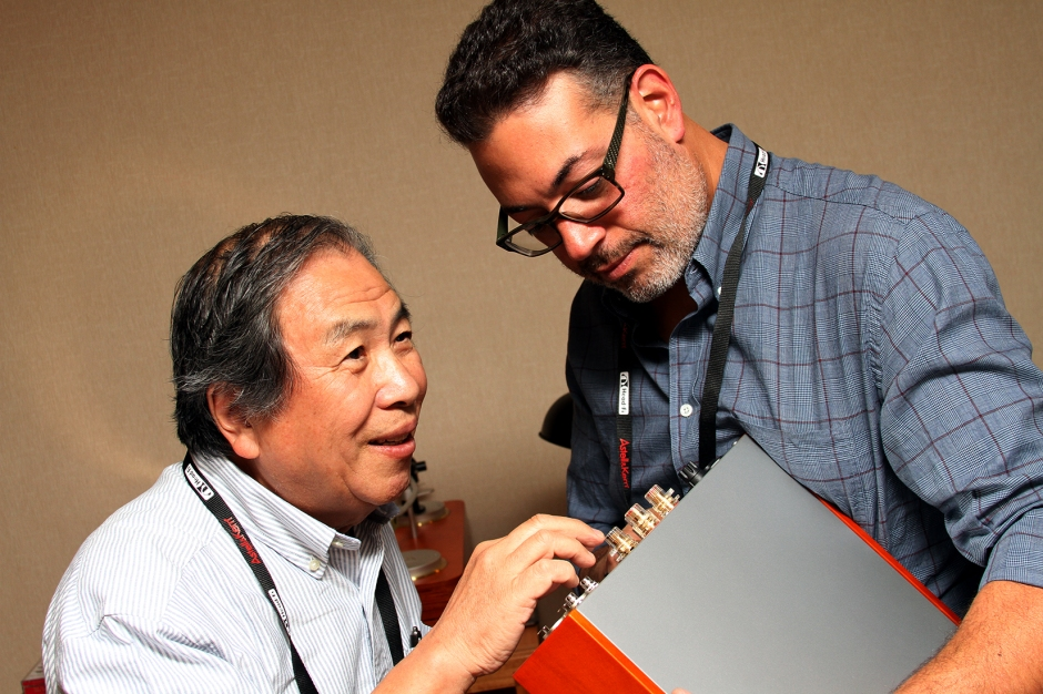 SPEC's Yazaki-san and Jonathan Halpern of Tone Imports.
