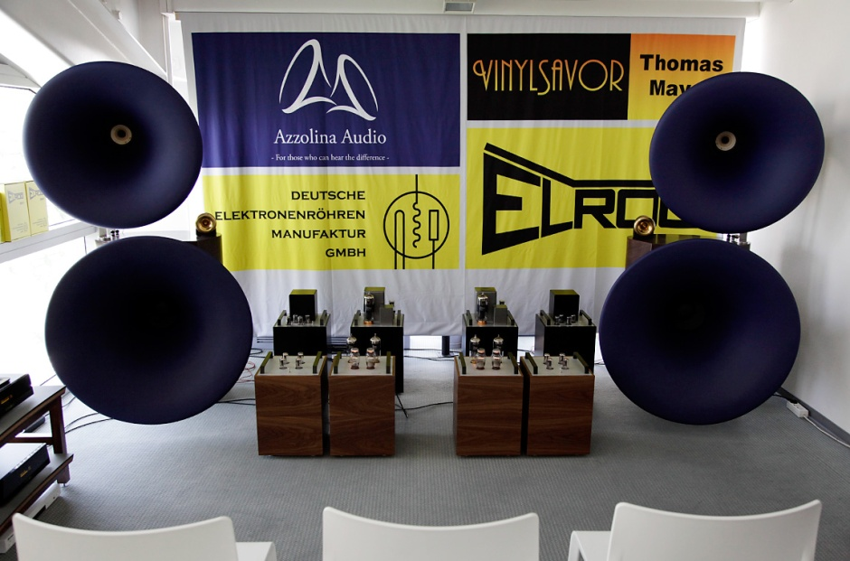 High End 2017: The horns of Azzolina Audio,Thomas Mayer amplification, Vinylista turntables