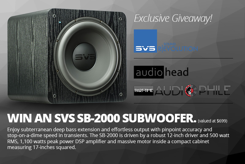 Win a free SVS subwoofer!